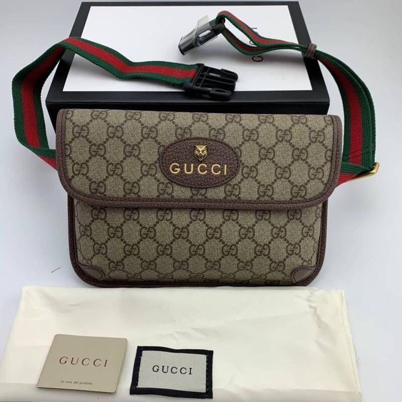 กระเป๋าคาดอก กุชชี่Gucci belt bag งานออริดีสุด หนังเเท้