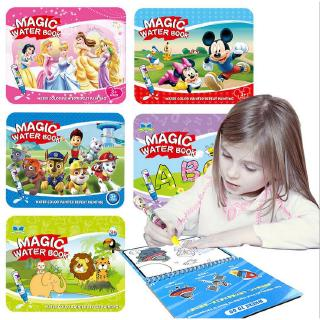 Reusable Magic Water Painting Book Magic Doodle pen Kids Coloring Doodle Drawing Board Toys Baby Educationa