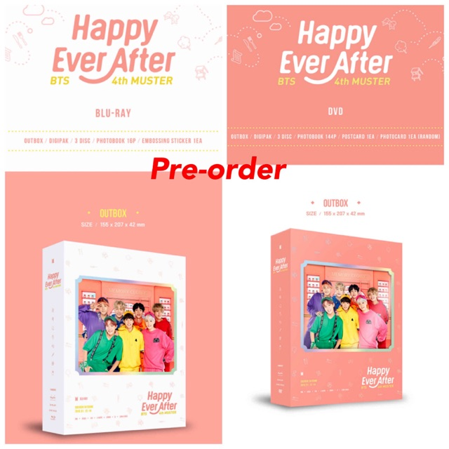 BTS 4th MUSTER : Happy Ever After DVD / Blu-ray