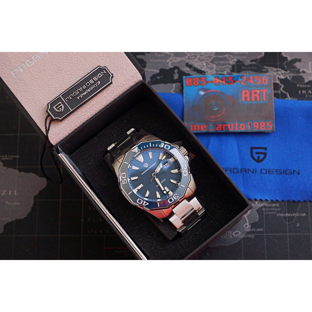 PAGANI DESIGN PD1617 นาฬิกา automatic  กระจก Sapphire