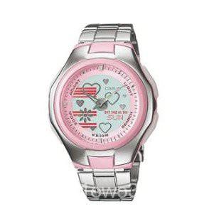 CASIO POPTONE นาฬิกาผู้หญิง สีเงิน สายสแตนเลส รุ่น LCF-10D-4AVDR,LCF-10D-4A,LCF-10D-4A