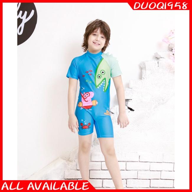 Boys One Piece Swimsuits Short Sleeve Rash Guard Shirt Bathing Suits For Boys Rash Guard Shirts