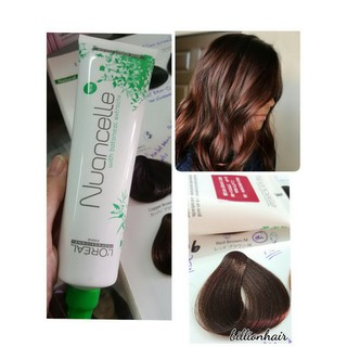 Review Loreal Paris Nuancelle with Botanical Extracts color # Red Brown M สีน้ำตาลอ่อนประกายแดง สำหรับปกปิดผมขาวไร้แอมโมเนีย 15