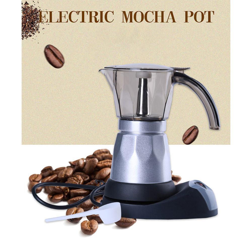รายละเอียดสินค้า เครื่องทำกาแฟสดelectric moka pot6 cup ทำกาแฟสดได้ง่าย ๆ ได้รสชาติกาแฟสดแท้
