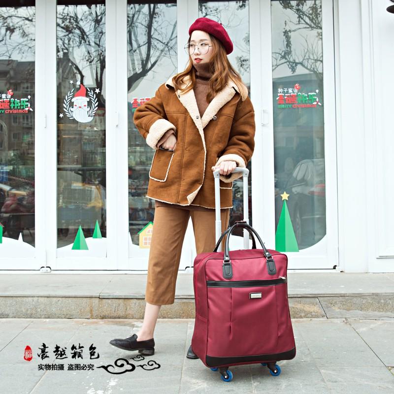 ✻> Rod กระเป๋าเดินทางหญิง ความจุขนาดใหญ่กันน้ำผ้าฟอร์ดกันน้ำ 10,000 ทางล้อระยะสั้นนักท่องเที่ยวเด็ก李ล็อครหัสผ่านกระเป๋า