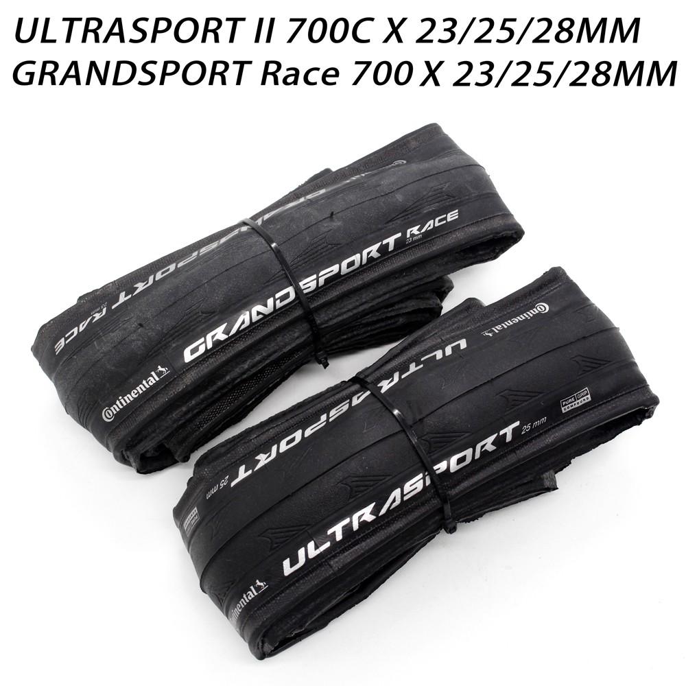 Continental Ultra Sport 2 & Grand Sport 700 23 C 25 C ยางรถจักรยานพับได้สีขาวไม่มีกล่อง