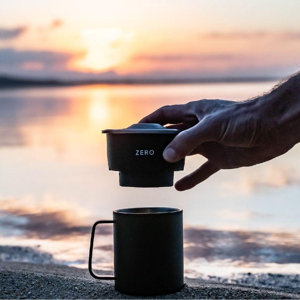 Zero เครื่องทำกาแฟพกพาได้ สามารถสร้างกาแฟเข้มข้นแก้วโปรดของคุณในเวลาเพียง1นาที