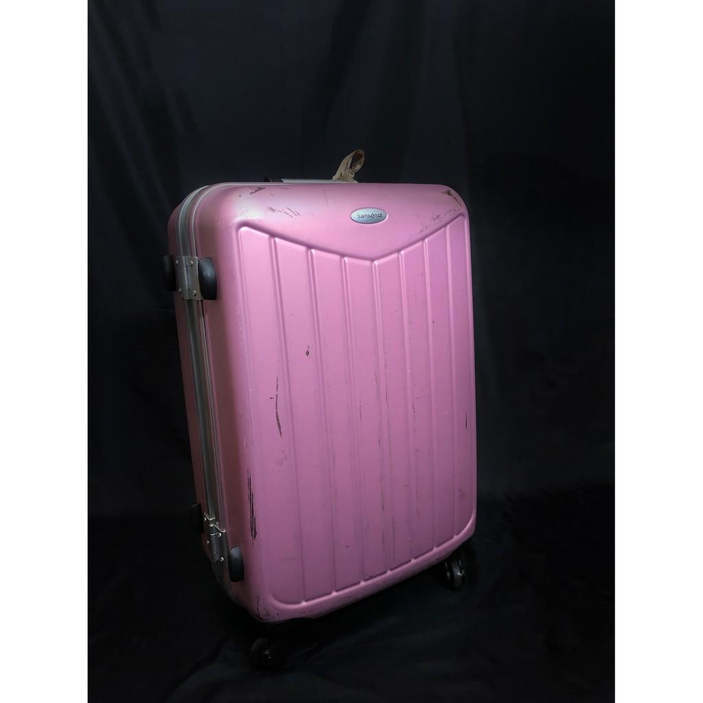 กระเป๋าเดินทาง Samsonite มือสอง สีชมพู