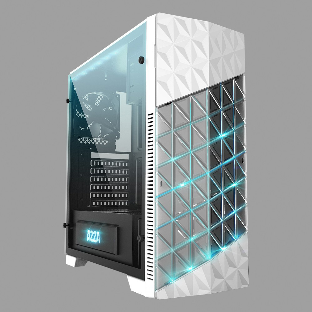 AZZA ATX Mid Tower Case Onyx 260 CSAZ-260 - White