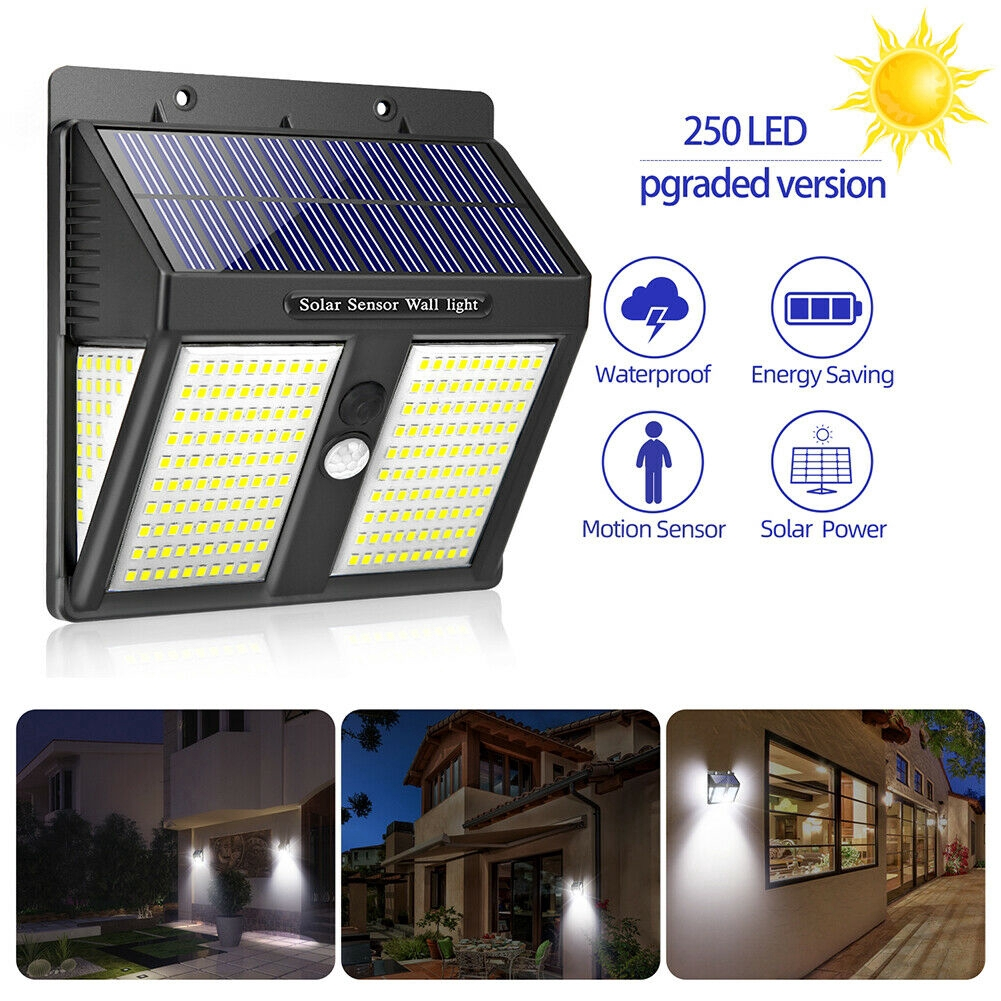 36 LED Triangle Bright Dimmable Outdoor Solar Power PIR Motion Sensor Light