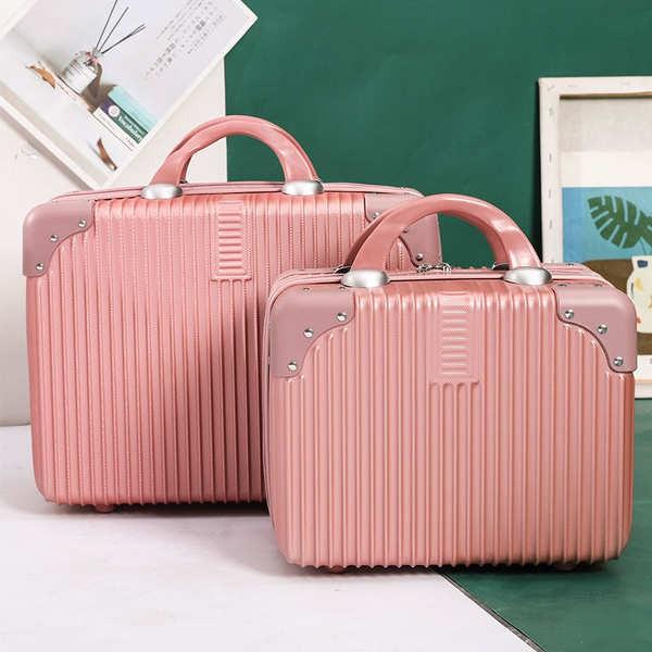 กระเป๋าสัมภาระแบบพกพาขนาด 14 นิ้วกระเป๋าเครื่องสำอางหญิงขนาดเล็ก 16 รหัสผ่านกระเป๋าเดินทางใบรับรองใบรับรองมินิกล่องเก็บ