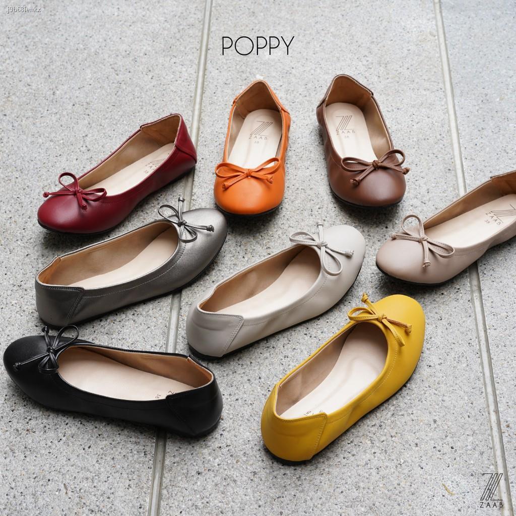 Lowest price⊙ZAABSHOES รุ่น POPPY รองเท้าคัชชู รองเท้าส้นเตี้ย รองเท้าแฟชั่นผู้หญิง รองเท้าผู้หญิง รองเท้าคัทชู  รองเท