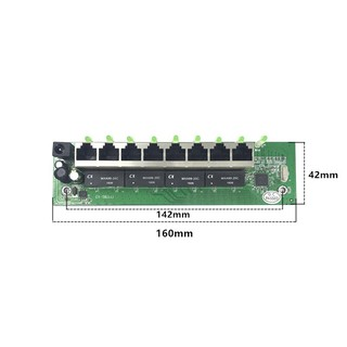 OEM factory direct mini fast 10 / 100mbs 8ort Ethernet network lan hub switch board twolayer cb 2 rj45 1 * 8in head ort