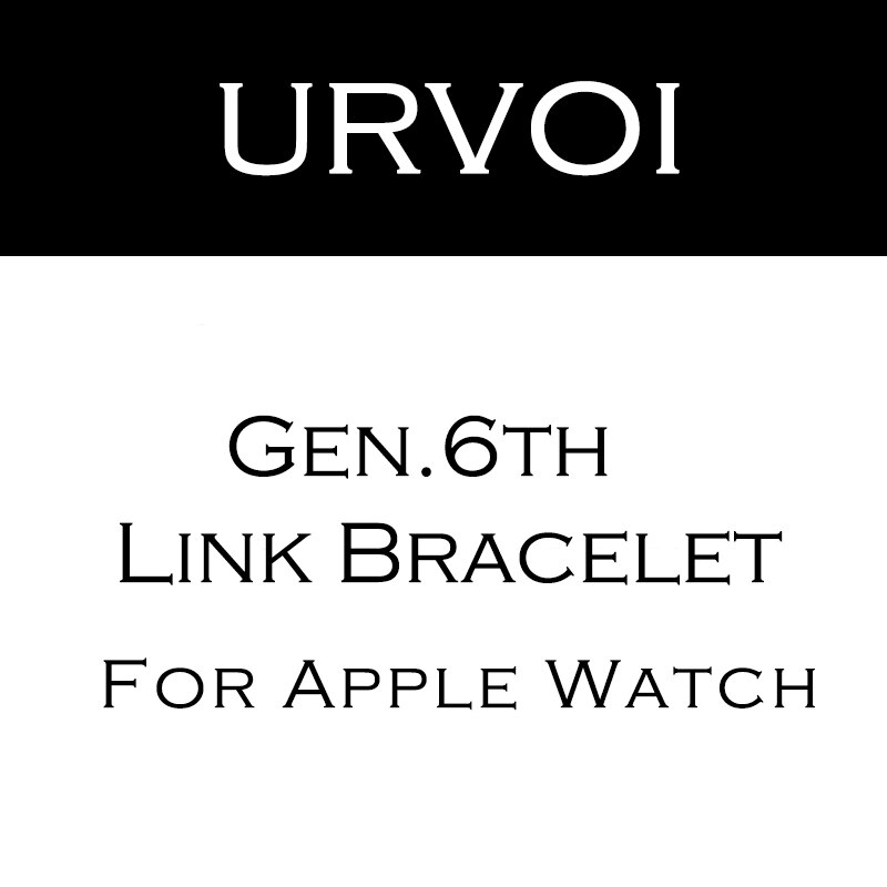 URVOI link bracelet band for apple watch series 6 SE 5 4 3 2 1 strap for iWatch adjustable high quality stainless steel