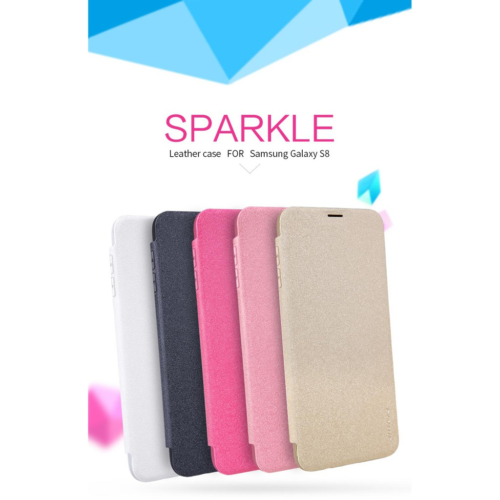 TTT Samsung Galaxy S8 Plus - เคสฝาพับ Nillkin Sparkle leather case แท้