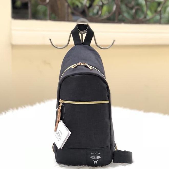กระเป๋าคาดเอว Unisex Anello - สีดํา