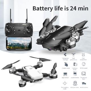 HJ28 4K HD Dual Camera Video Drone เครื่องบิน FPV Wifi Aircraft Foldable RC Quadcopter Selfie Toys APP Remote Control Life 24 Min Flight Time