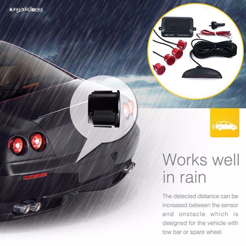 CR Reverse Radar Car Reverse Radar 4 Parking Sensors LCD