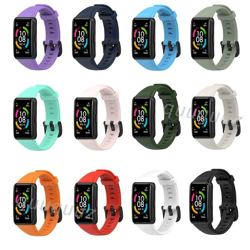 QUU Replacement Sport Silicone Watch Band Wrist Strap for Honor Band 6 / Huawei band 6 Smart Watch