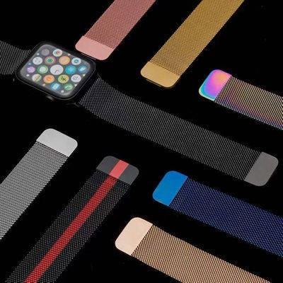 สายนาฬิกาอัจฉริยะ สายนาฬิกา สายนาฬิกา applewatch สาย applewatch Milanis stainless steel strap Apple watch silicone two-c