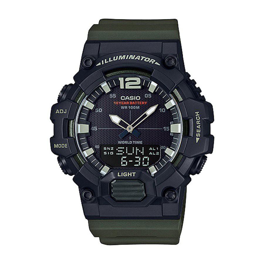 Casio Standard นาฬิกาข้อมือผู้ชาย สายเรซิน รุ่น  HDC-700,HDC-700-3A,HDC-700-3AVDF - สีเขียว