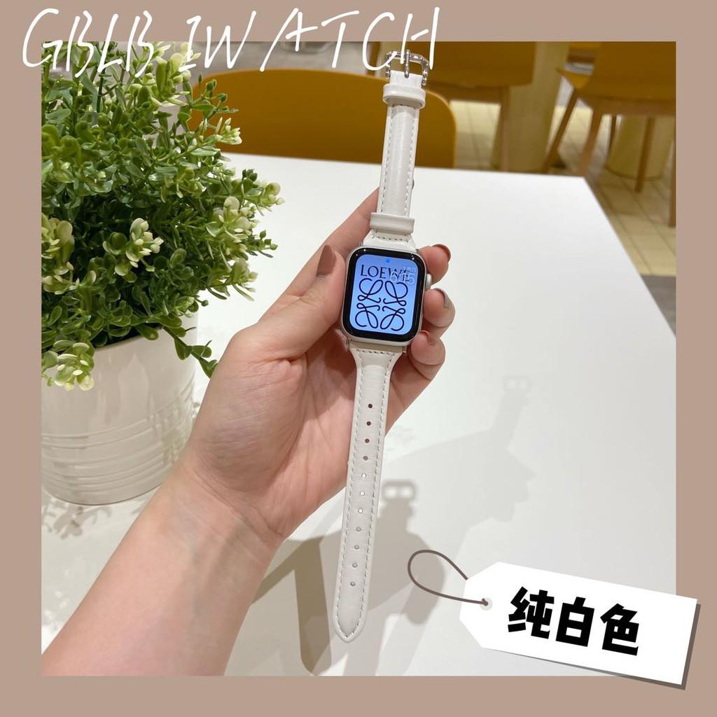 applewatch6 เข็มขัด□◊✣ใช้ได้กับ applewatch6 สายนาฬิกา Apple SE หญิง iwatch5 / 4/3 สายหนังบางเอวเล็ก