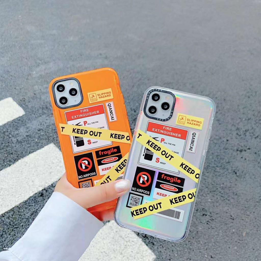 ฉลากบุคลิกภาพ TPU ใสสองสี iPhone 11 11Pro 11Promax XR Xs Max i7 i8 7 8Plus เคสโทรศัพท์มือถือป้องกันการหล่น มาพร้อมกับกระดาษเลเซอร์