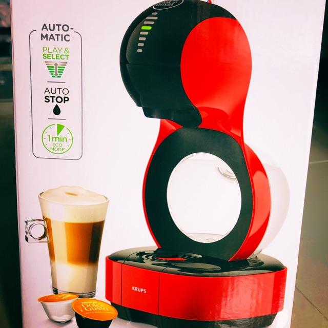 เครื่องชงกาแฟแรงดัน KRUPS KP130166 เครื่องทำกาแฟแคปซูล (แถมแคปซูล 1 กล่อง) ของแท้ใหม่ สีแดง📍📍📍 #Sale 💵💵💵 ของแท้!!!