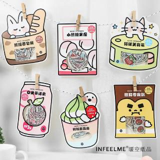 Review Winzige 40 Pcs Deco Stickers Set Cute Snacks Washi Sticker DIY Diary Journal