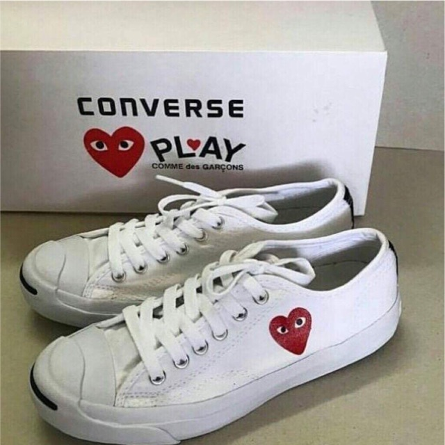 Converse Comme Des Garcons Play Low White