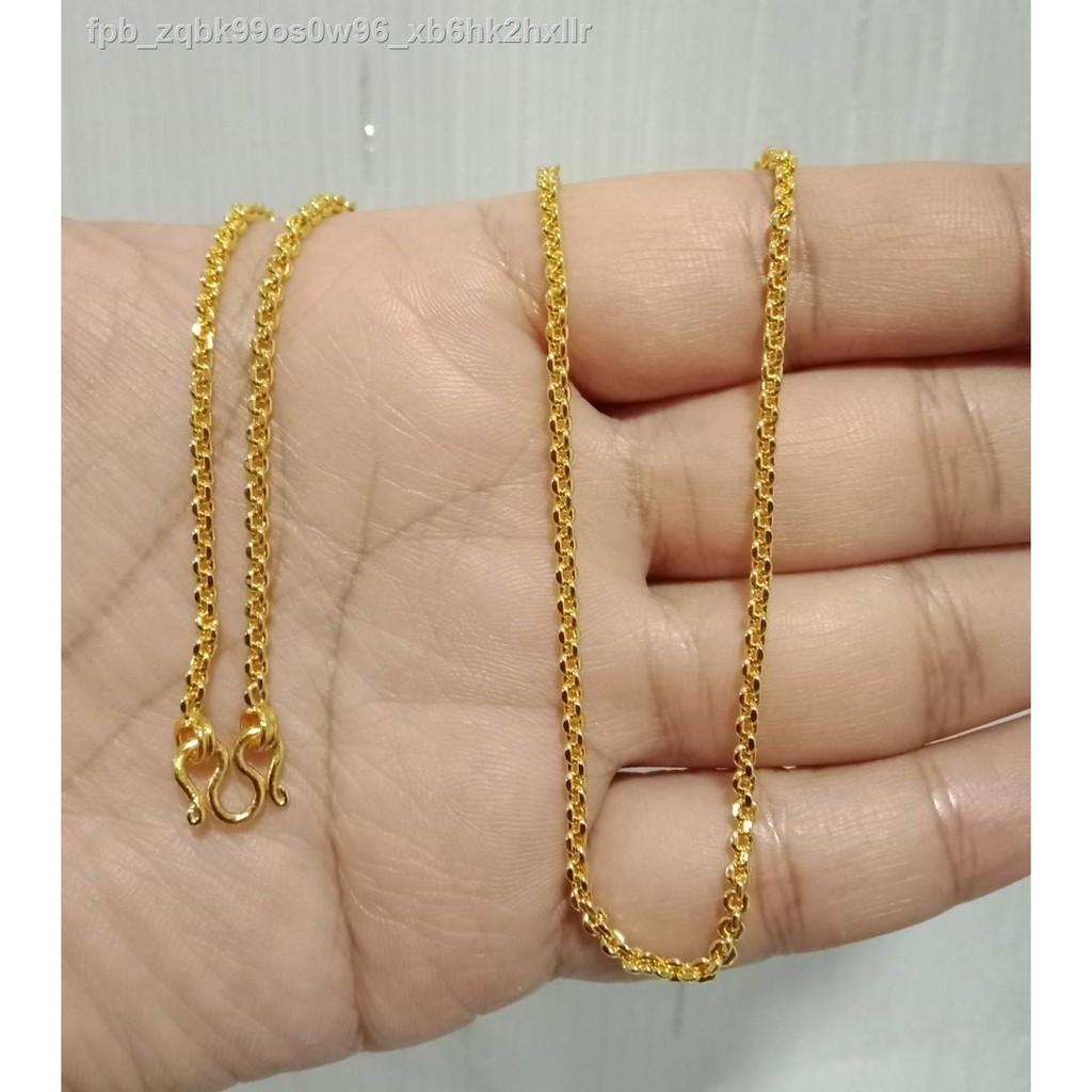 【มีสินค้า】🔥มีของพร้อมส่ง🔥ลดราคา🔥✙◄▩ทองสร้อยคอลายคอตกิต (18 นิ้ว) (20 ทองชุบสร้อยคอทองสร้อยคอสร้อยคอทองสร้อยแก้ว