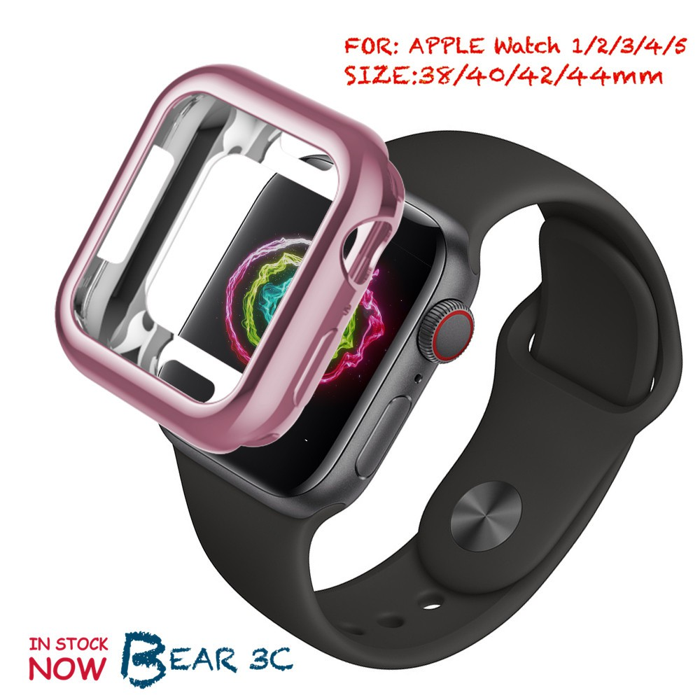 Apple Watch Case iWatch 5 4 3 2 1 40MM 44MM Slim Watch Cover Soft Clear TPU Screen Protector
