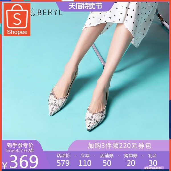รองเท้าคัชชู ใส่สบาย สำหรับผู้หญิง รุ่นสีเรียบใส่ทำงาน Felblier รองเท้าแบน 2021 ฤดูใบไม้ผลิและฤดูร้อนใหม่แหลมปากน้ำตื้นก