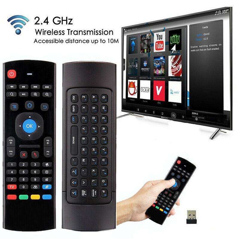 Mx 3 2 . 4 G แอร์เมาส์คีย์บอร์ดไร้สายขนาดเล็กแบบพกพาสําหรับ Android Tv Box
