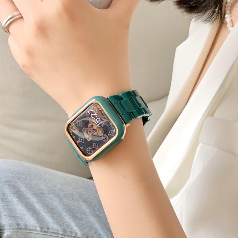 สายนาฬิกาข้อมือเรซิ่นสําหรับ Applewatch 5 Se 4 / 3 / 2 / 1