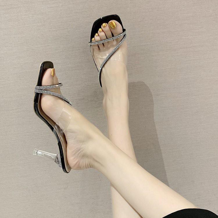 รองเท้าส้นตึก รองเท้ายาง คัชชู รองเท้า รองเท้าส้นสูง รองเท้าส้นสูงแฟชั่น ไฮโซ TP159