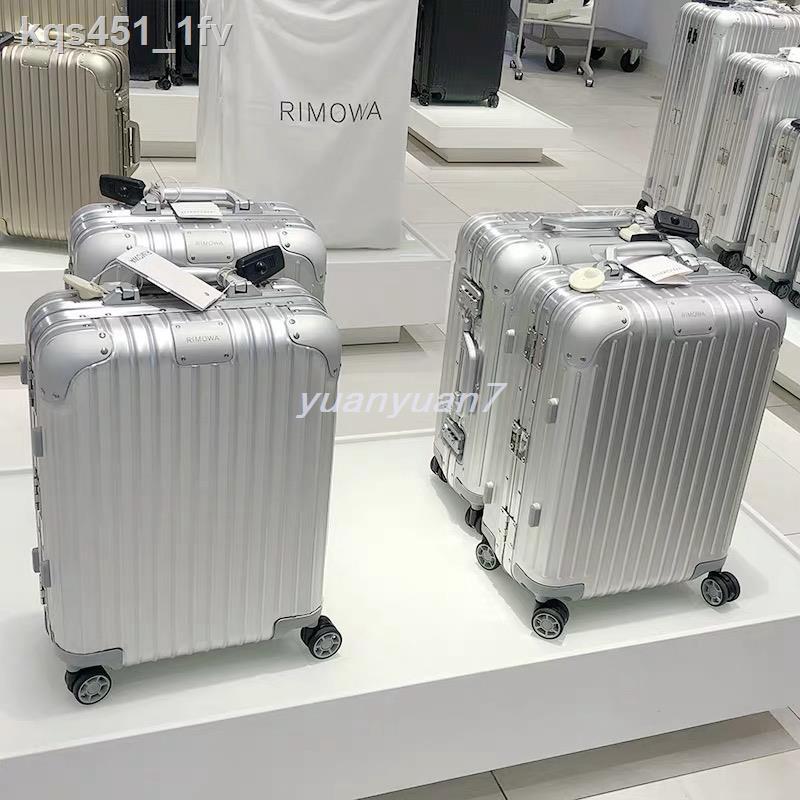 กระโปรงหลังรถ┇RIMOWA Origina กระเป๋าเดินทางล้อลากอลูมิเนียม-แมกนีเซียม l กระเป๋าเดินทางแบบมีล้อลากแบบโลหะ