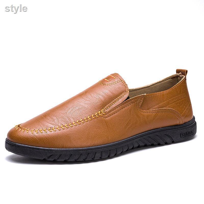 ราคาถูกรองเท้าไม่มีส้นของผู้ชายรองเท้าคัชชูชายรองเท้าหนังชายรองเท้าคัชชู ผช