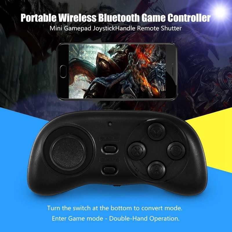 Game Controller Mini Gamepad Joystick Handle Remote Shutter Portable Wireless Bluetooth