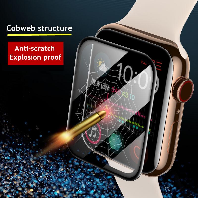 ฟิล์มกันรอยหน้าจอ สําหรับ Apple Watch Series 6 5 1 2 3 4 3 D  iWatch 5 40 มม . 44 มม . 42 มม . 38 มม .