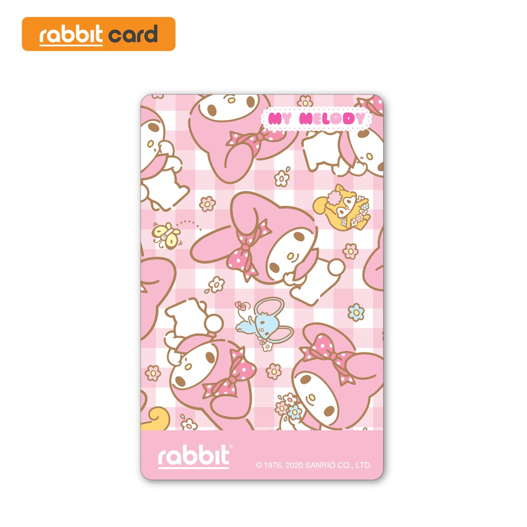Rabbit Card บัตรแรบบิท My Melody สีชมพู สำหรับบุคคลทั่วไป (mm Pink).
