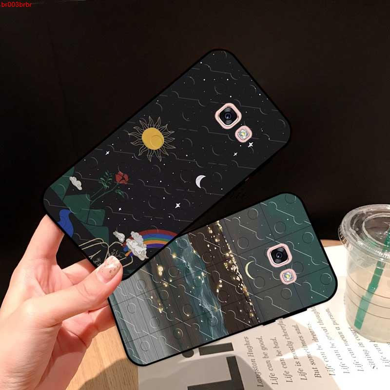 Samsung A3 A5 A6 A7 A8 A9 Pro Star Plus 2015 2016 2017 2018 HXKYJ Pattern-2 Silicon Case Cover