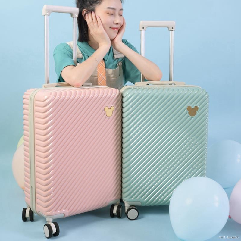 กระเป๋าเดินทางใบเล็ก✲กระเป๋าเดินทางแบรนด์ร่วม Bulaimei Disney หญิง กระเป๋าเดินทางขนาดเล็กน้ำหนักเบา 20 นิ้ว กระเป๋าเดิน