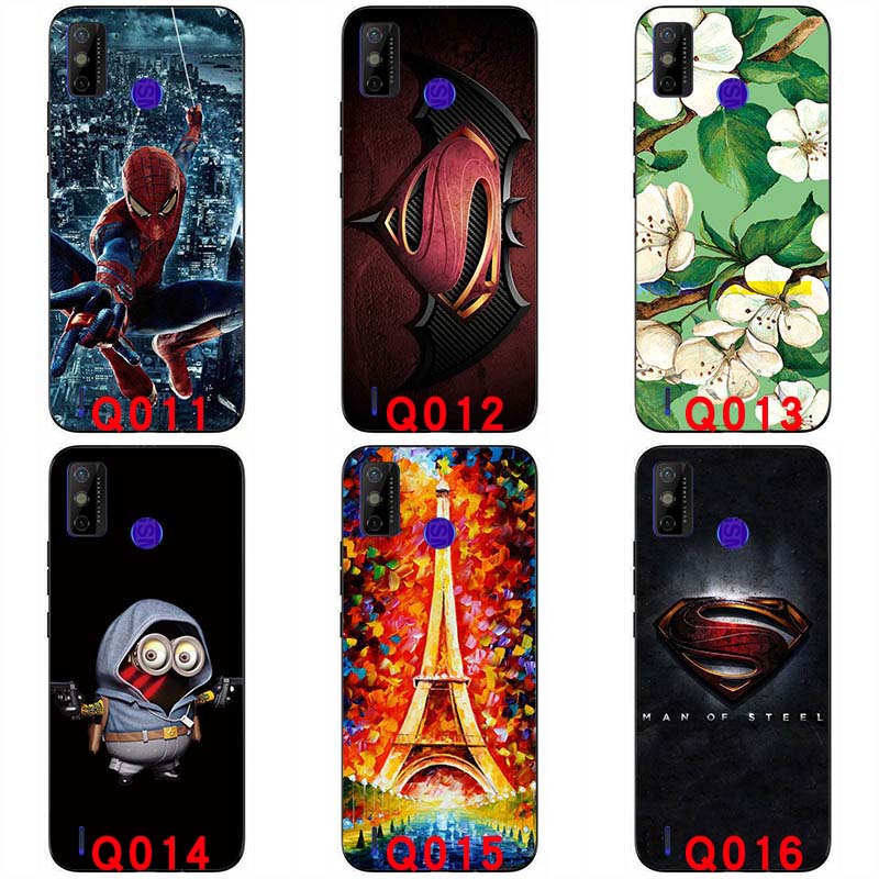Soft silicone cases Fashion Cartoon For Tecno Spark 6 GO 6.52 inch soft Back cover Protective shell soft casing Colorful Cartoon Pattern handphone case