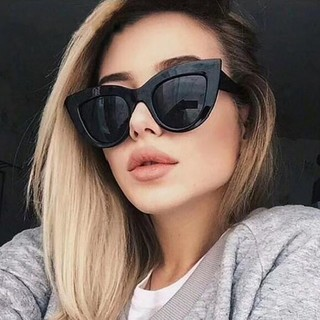 Review Fashion Vintage Ladies Sexy Cat Eye Sunglasses Women Luxury Retro Big Frame