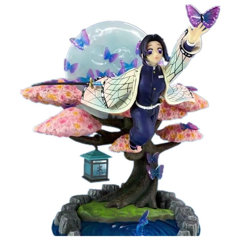โมเดลดาบพิฆาตอสูร  ตุ๊กตาอนิเมะNew Demon Slayer  cute Toys Kochou Shinobu  Figure Zenitsu 31CM VC Model Action Figure An