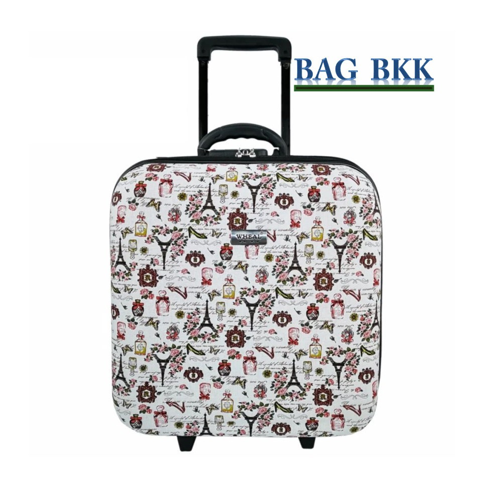 BAG BKK Luggage Wheal กระเป๋าเดินทางหน้านูน กระเป๋าล้อลากขนาด 16x16 นิ้ว Code BF7801-16 Paris France