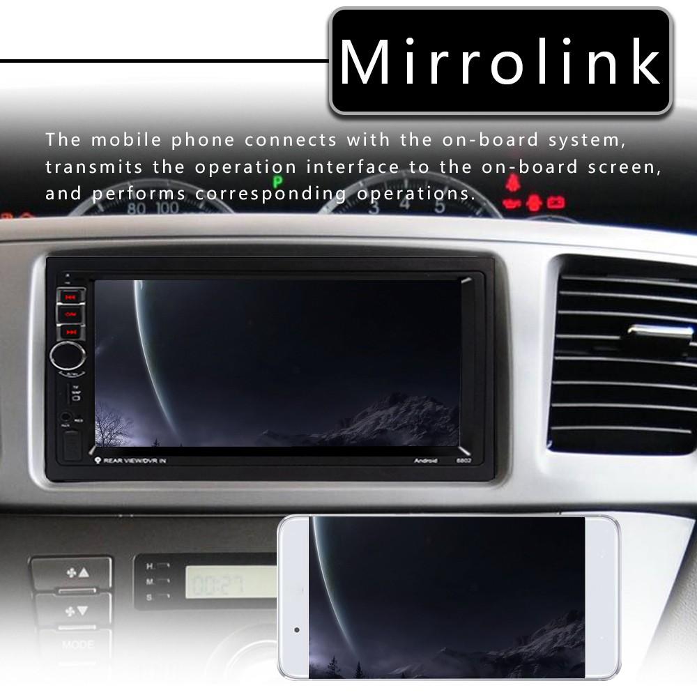 เครื่องเล่นมัลติมีเดียหน้าจอ 7 นิ้ว Hd 2 Din Android 8 . 1 สําหรับติดรถยนต์ 8802