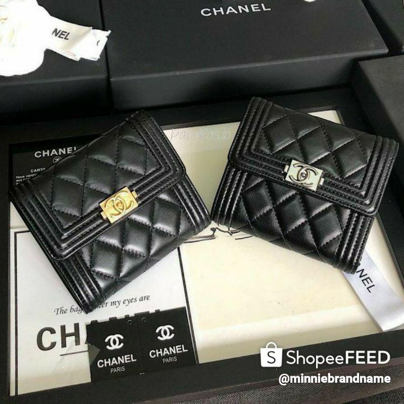 Chanel Boy Lambskin Wallet