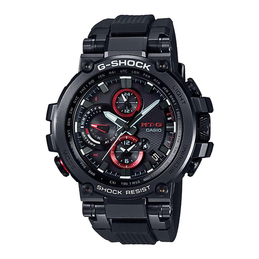 Casio G-Shock นาฬิกาข้อมือผู้ชาย สายเรซิน รุ่น MTG-B1000B,MTG-B1000B-1A - สีดำ